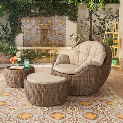Etheridge 3 Piece Lounge Seating Group with Cushion