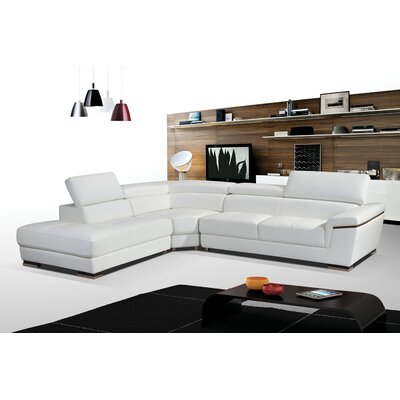 Duron Leather Sectional Orientation: Right Hand Facing