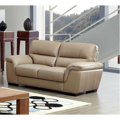 Alivia Leather Loveseat