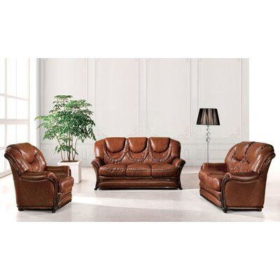 Doyle Leather Configurable Living Room Set
