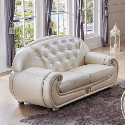 Alleyne Leather Loveseat