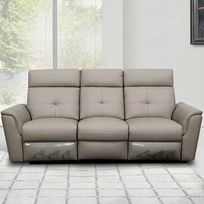 Alexia Leather Reclining Sofa
