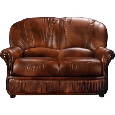 Piercefield Leather Loveseat