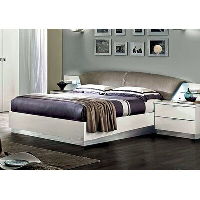 Edwards Upholstered Platform Bed Finish: White, Size: King