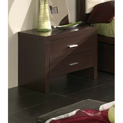 Kayli 2 Drawer Nightstand Color: Wenge