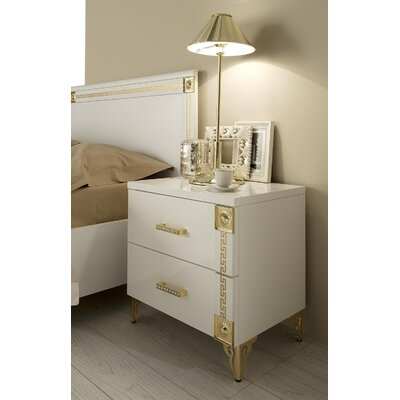 Alpha 2 Drawer Nightstand Orientation: Right