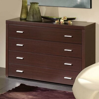 Kayli 4 Drawer Dresser Color: Wenge
