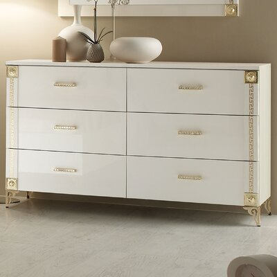 Alpha 6 Drawer Double Dresser