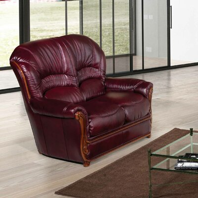 Leslie Leather Loveseat