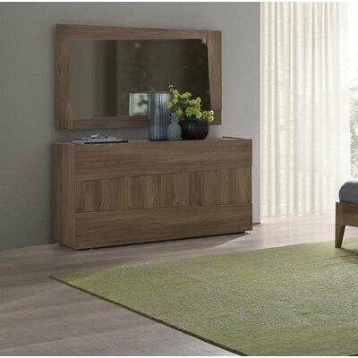 Antonucci 3 Drawer Dresser with Mirror