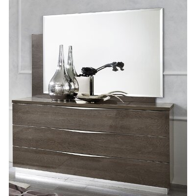 Asberry 3 Drawer Dresser with Mirror