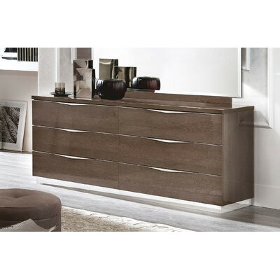 Asberry 6 Drawer Double Dresser