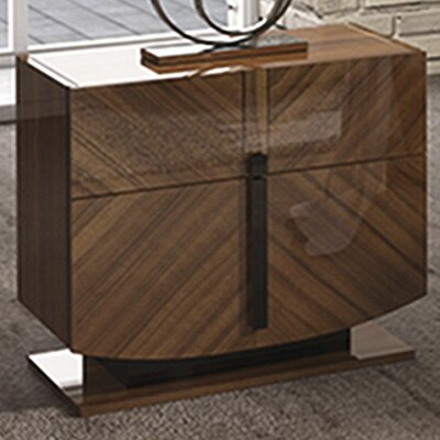 Alers 2 Drawer Nightstand