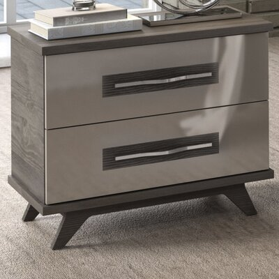 Cowden 2 Drawer Nightstand