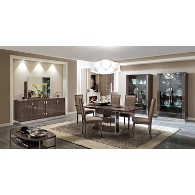 Otterburn Extendable Dining Table Color: Brown/Chorme