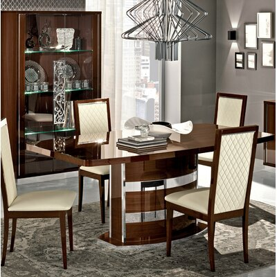 Otterburn Extendable Dining Table Color: Walnut/Chrome