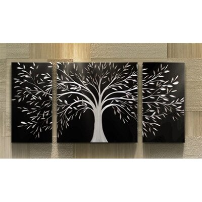'Silver Darkness' Graphic Art Print Multi-Piece Image on Metal