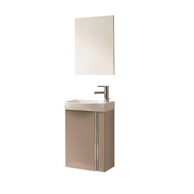 Kegley 18 Single Bathroom Vanity Set with Mirror Base Finish: Taupe