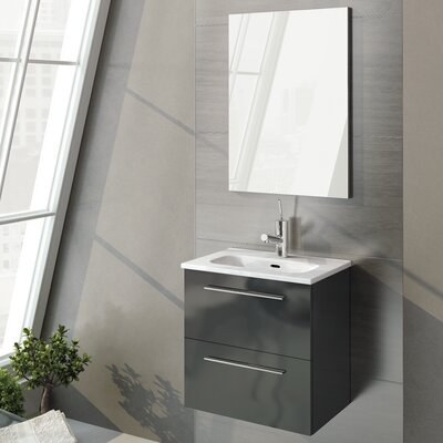 Kegler 20 Single Bathroom Vanity with Mirror Base Finish: Anthracite