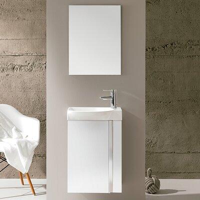 Kegley 18 Single Bathroom Vanity Set with Mirror Base Finish: White