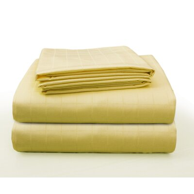 Floyd Luxury Square Box Design Bed 100% Cotton Sheet Set Size: California King, Color: Beige