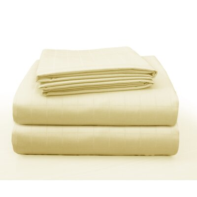 Floyd Luxury Square Box Design Bed 100% Cotton Sheet Set Size: Twin/Twin XL, Color: Champagne