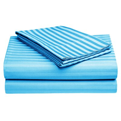 Harding Cotton Pillow Case Color: Blue