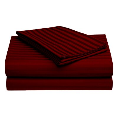 Harding Cotton Pillow Case Color: Maroon