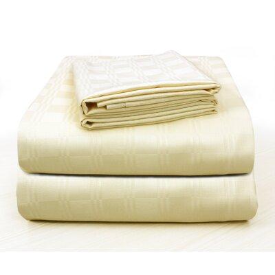 Alvarenga Plaid Cotton Pillow Case Color: Champagne