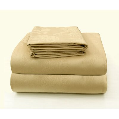 Carlene Jacquard Designed Cotton Pillow Case Color: Beige