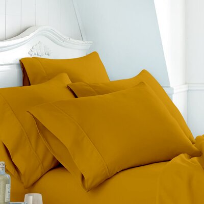 Alula Super Soft Plain Cotton Pillow Case Color: Gold