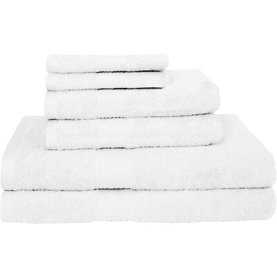 Blended 6 Piece Towel Set Color: White