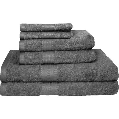 Blended 6 Piece Towel Set Color: Gray