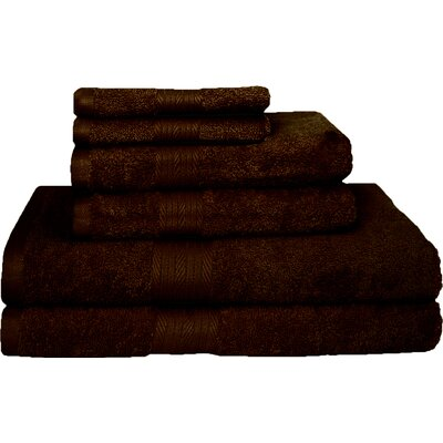 Blended 6 Piece Towel Set Color: Rum Raisins