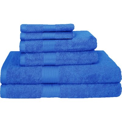 Blended 6 Piece Towel Set Color: Navy
