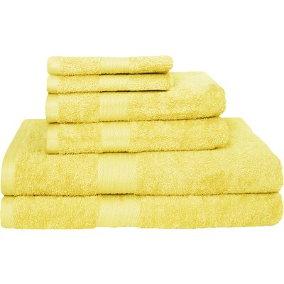 Blended 6 Piece Towel Set Color: Banana