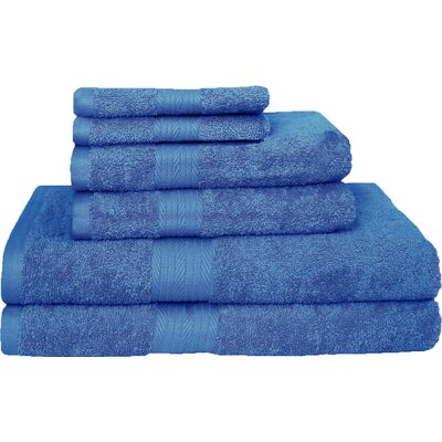 Blended 6 Piece Towel Set Color: French Blue