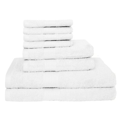 Blended 8 Piece Towel Set Color: White