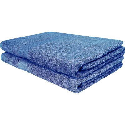 Solid Ringspun Bath Towel Color: Navy
