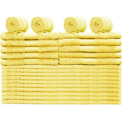 Damiani 24 Piece Washcloth Color: Banana