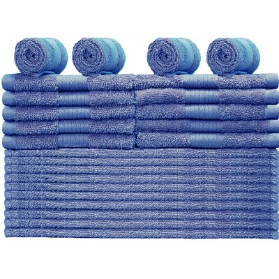 Damiani 24 Piece Washcloth Color: French Blue