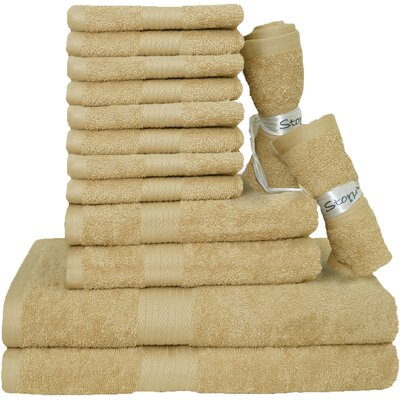 Blended 14 Piece Towel Set Color: Beige