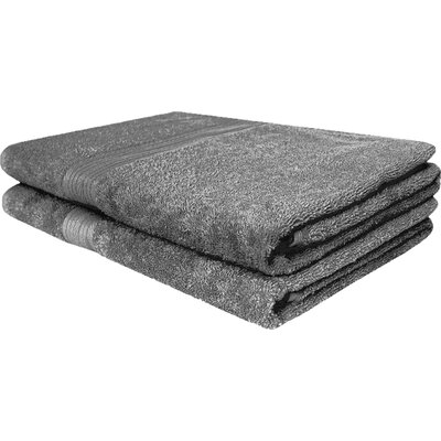 Solid Ringspun Bath Towel Color: Gray