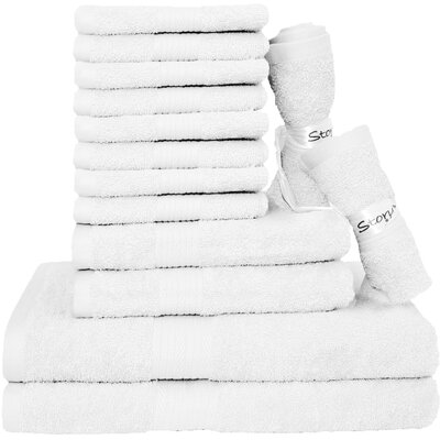 Blended 14 Piece Towel Set Color: White