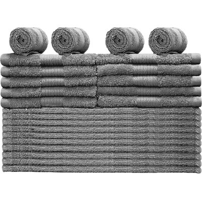 Damiani 24 Piece Washcloth Color: Gray