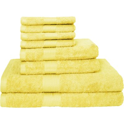 Blended 8 Piece Towel Set Color: Banana
