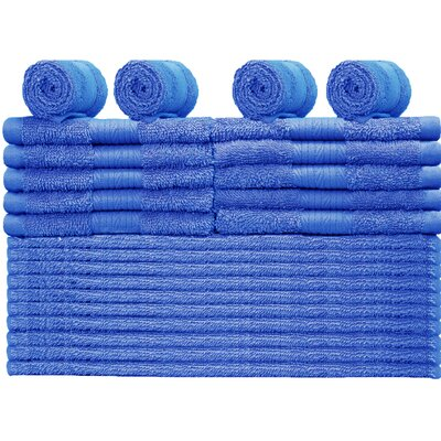 24 Piece Towel Set Color: Navy
