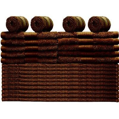 24 Piece Towel Set Color: Rum Raisins