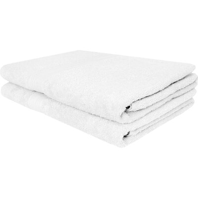 Solid Ringspun Bath Towel Color: White