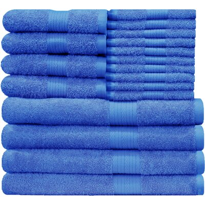 Blended 18 Piece Towel Set Color: Navy